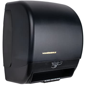 vondrehle 2245 negro manos libres rollo de papel toalla dispensador con sensor de movimiento: Amazon.es: Hogar