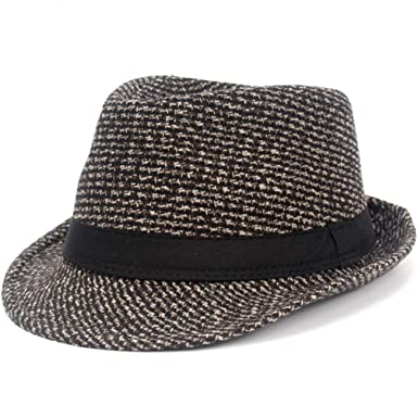 6b668760f68 Image Unavailable. Image not available for. Color: Fedoras Fashion Knitting  Dot Jazz Small Fedora Hat Men Women's Hats ...