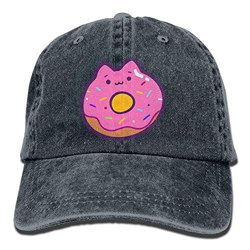 2018 Adult Fashion Cotton Denim Baseball Cap Cat Donut Classic Dad Hat Adjustable Plain Cap