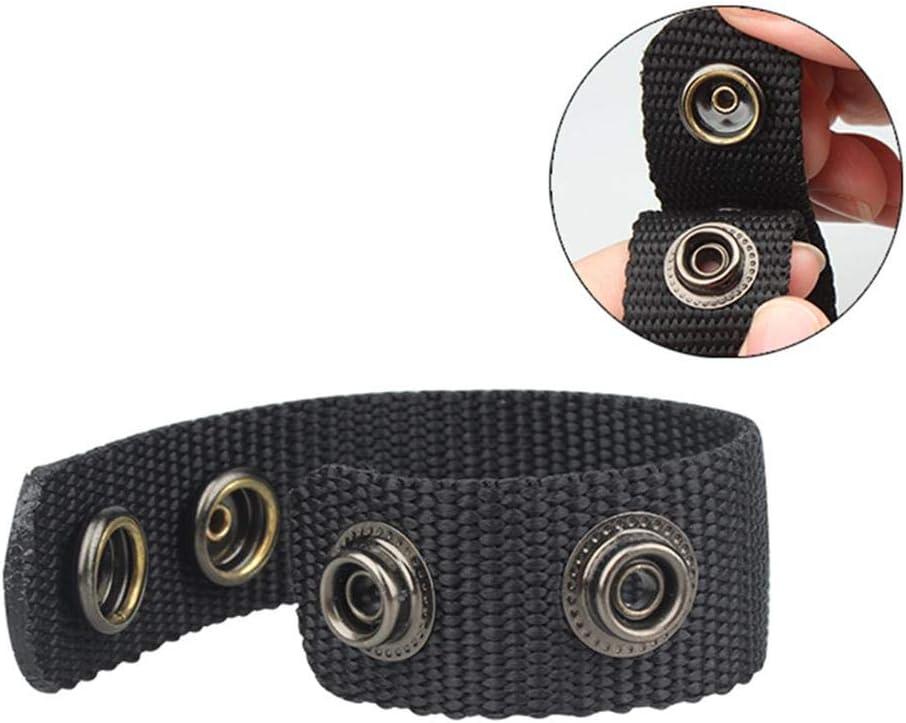 strapazierf/ähiger Leder-Schutzg/ürtel f/ür die Befestigung von Outdoor-Sportgurten Ecisi Double Snaps Belt Keeper 4er-Pack
