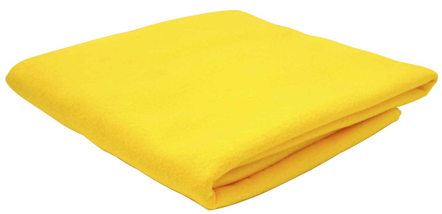 36 L x 36 W Yellow Sax Synthetic Decorator Felt 362465