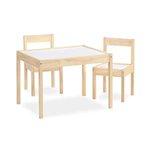 Baby Relax DA7501N Hunter 3-Piece Kiddy Table & Chair, Natural/White Table Set