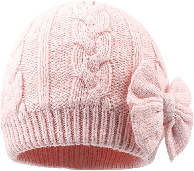 HOMZE Girl Knitted Kids caps Autumn Winter Warm Ear Protection Cap Kids Hat Knitted Hat for Baby Gift Beanie Double Layer hat 2018 Black