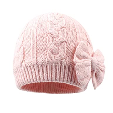 Baby Girls Knit Hats Toddler Infant Beanie Caps Autumn Winter Warm Skull  Hood Cap (S 8571d1a33e6