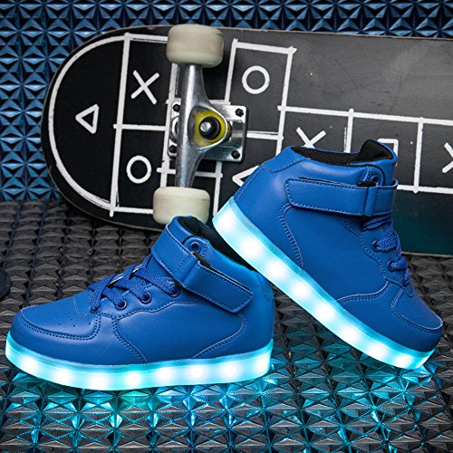 Pictures of VILOCY Kids Boys Girls High Top USB Blue 11 M US Little Kid 2