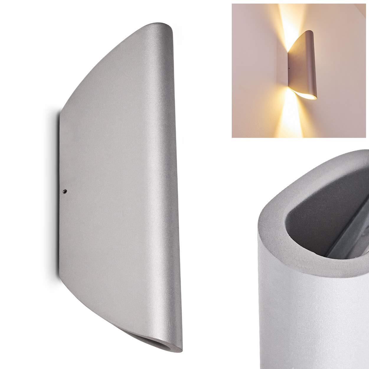 Aplique exterior de metal Gatunga color plata - Lámpara de ...