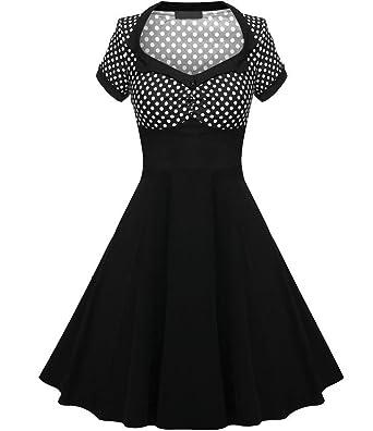 Jahre Kleid Knielang Scothen Kleid 50er Kleid Vintage Petticoat QdCtshrxB
