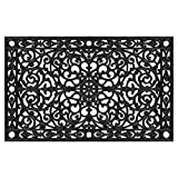 Home & More 900223048 Gatsby Doormat, 2'6'' x 4', Black