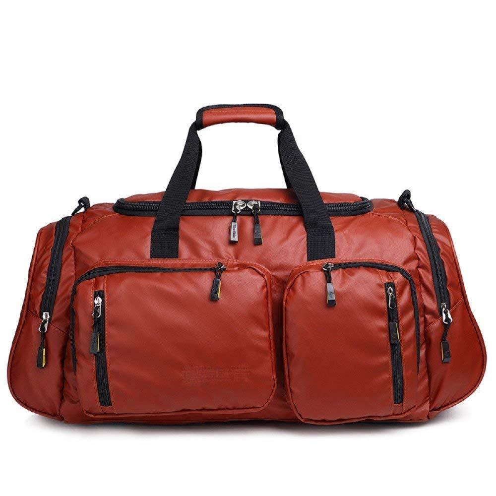 Abenily Portabilidad compacta compacta compacta Bolsos de Mano para Caballero Bolsos de Caballero Bolsas de Viaje Impermeables Bolsas Grandes Bolsas de Deporte al Aire Libre (Color : Red1, tamaño : Talla única) c8194b