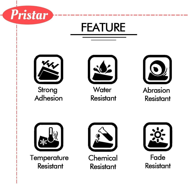 4X Pristar Compatibile Nastri Ricambio per Etichette per Brother TZe-335 TZe335 TZ-335 Bianca su Nero Laminato per Brother PTouch PT-H105 H110 H200 P300BT H100LB D200BW D200VP D210VP E550WVP
