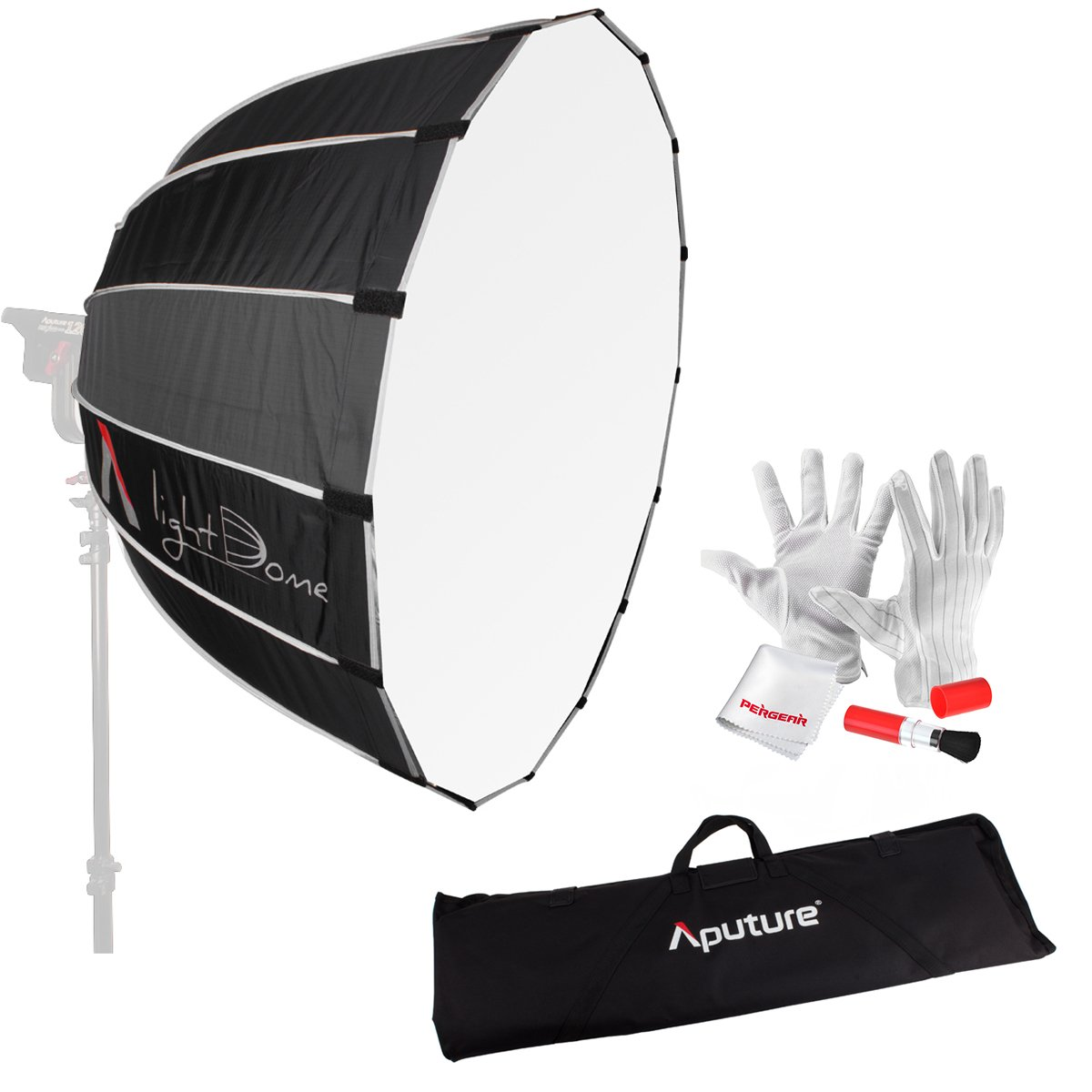 Aputure Light Dome 35'' Softbox with Bowen-S Speed Ring, Carrying Bag and Pergear Clean Kit for Aputure Light Storm COB 120t and Other Bowen-S Mount Lights