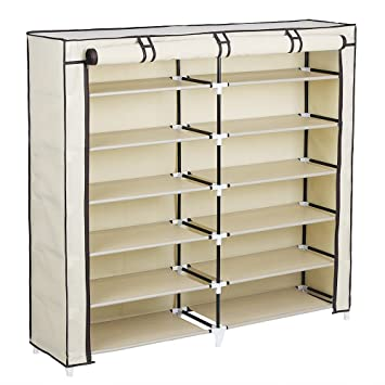 Beau Amazon.com: SONGMICS 7 Tier Portable Shoe Rack Organizer 36 Pair Shoe  Storage Cabinet Beige URXJ12M: Home U0026 Kitchen