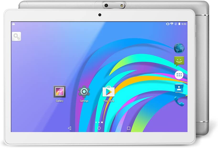 YUNTAB K98 9.6 inch Android Tablet 3G Unlocked Smart Phone, Support Dual SIM Card, 16GB Storage, Quad-Core Processor, IPS Touch Screen, Dual Camera, WiFi(Silver)