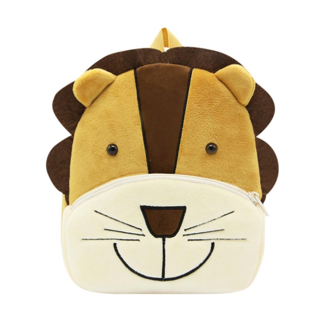 Sagton Toddler's Backpack, Cartoon Animal School Bag for Kids Boy Girl (Lion)