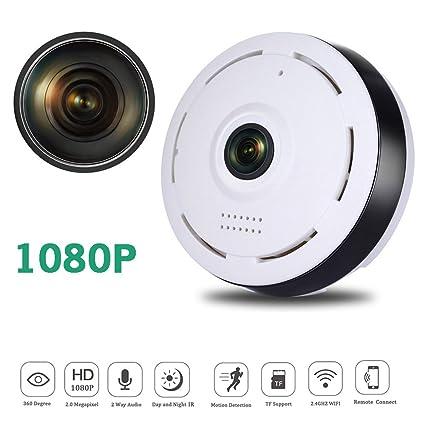 CXYP IP Camara de Vigilancia WiFi Interior Inalámbrico, HD 1080P con Micrófono y Altavoz IR
