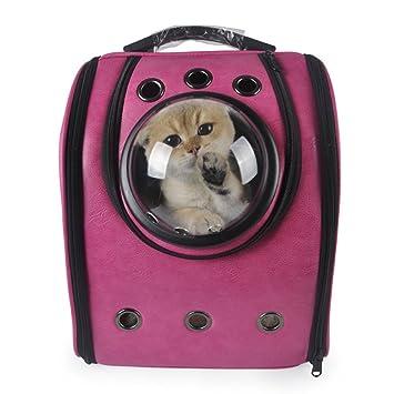 EDYUCGA Artículos para Mascotas Mochilas para Mascotas Gatos Y Perros De Invierno Sin Cápsulas Portátiles Bolsas para Mascotas Bolsas De Aire,Pink: ...