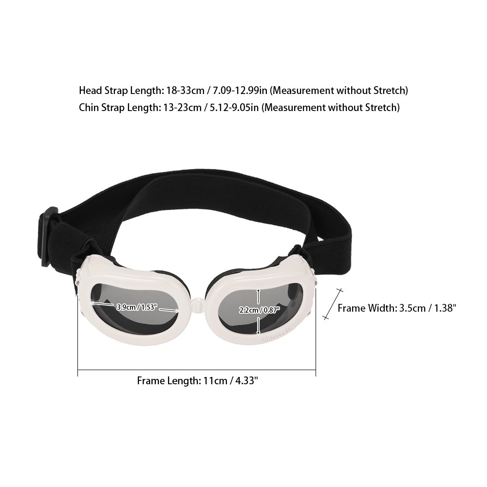 Anself Pet Goggles Small Dog Sunglasses Anti-Fog Anti-wind Glasses ...