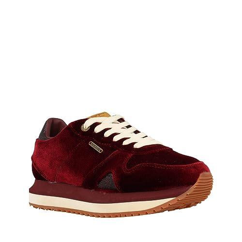 Pepe Jeans Zion Velvet, Zapatilla de Mujer: Amazon.es: Zapatos y complementos