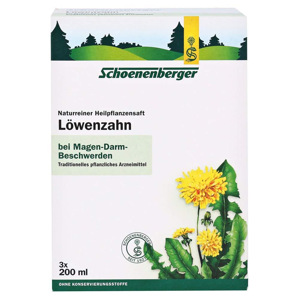 Schoenenberger Löwenzahn naturreiner Heilpflanzensaft, 3x200 ml Solution