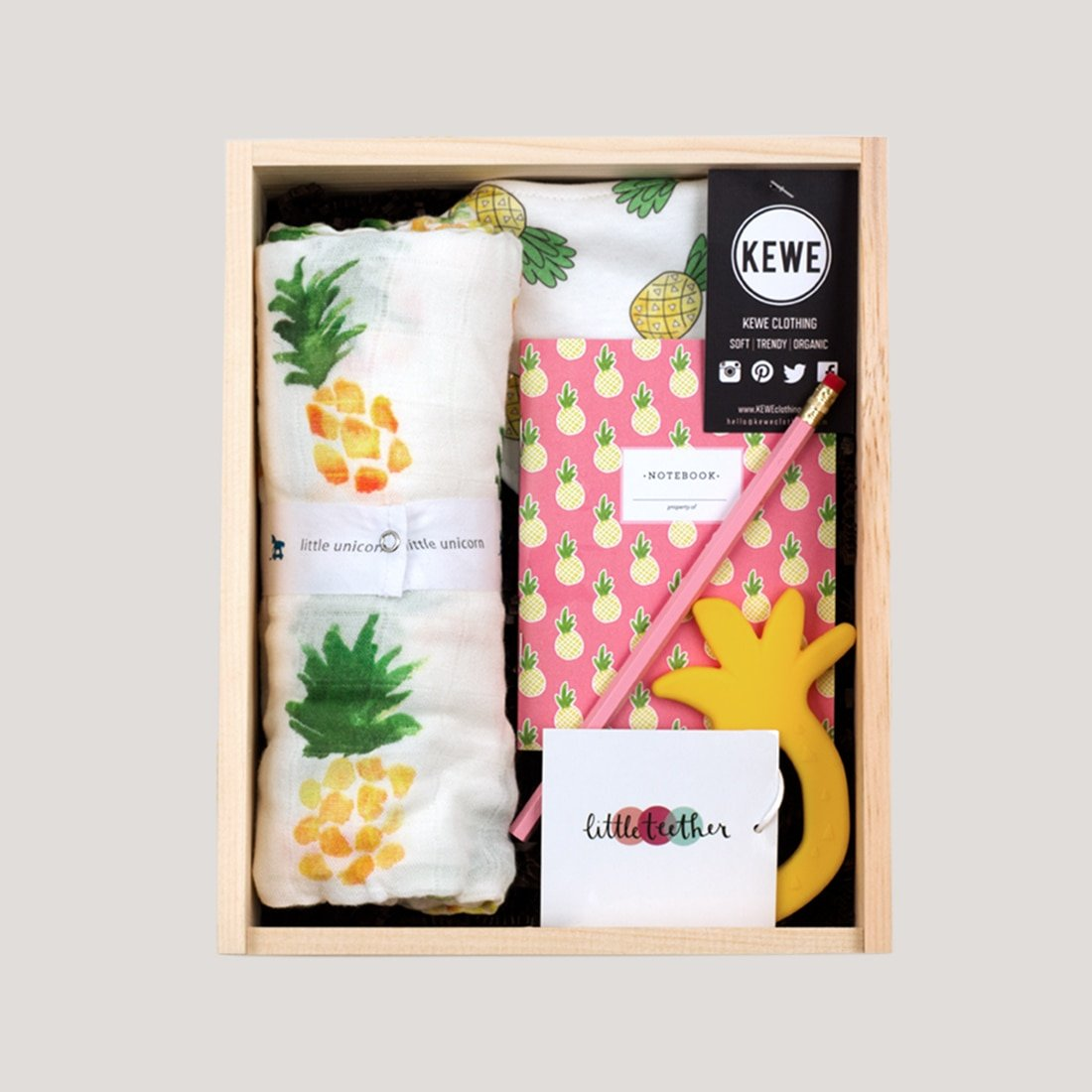 eeac5db120392 My Little Pineapple (2017) - Baby Gift Basket [Products by: Kewe ...