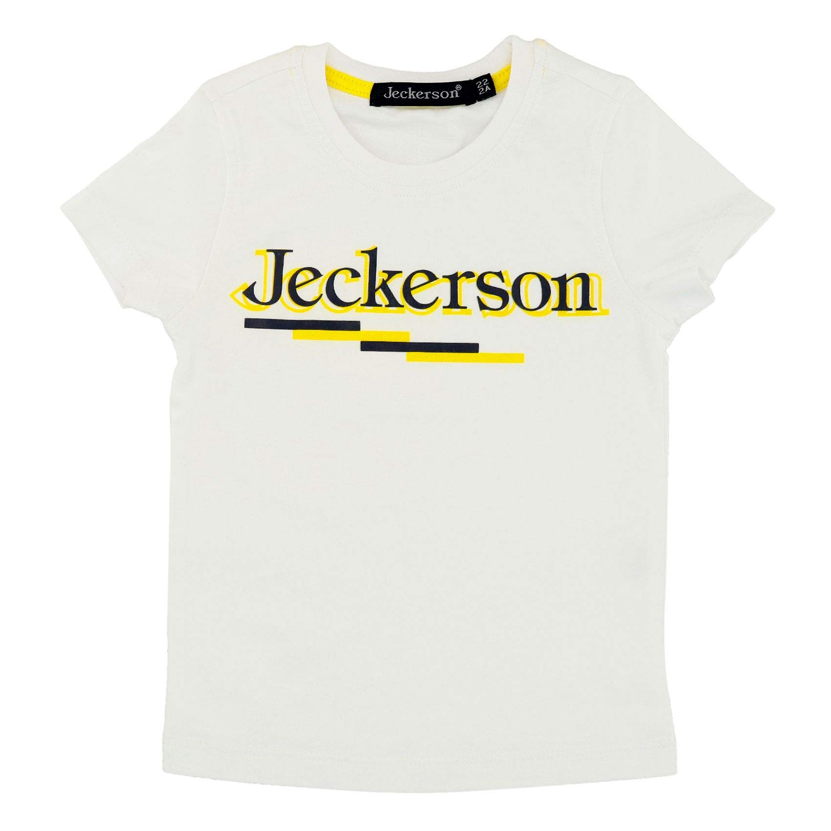 Jeckerson Boys Jb1044white White Viscose T-Shirt