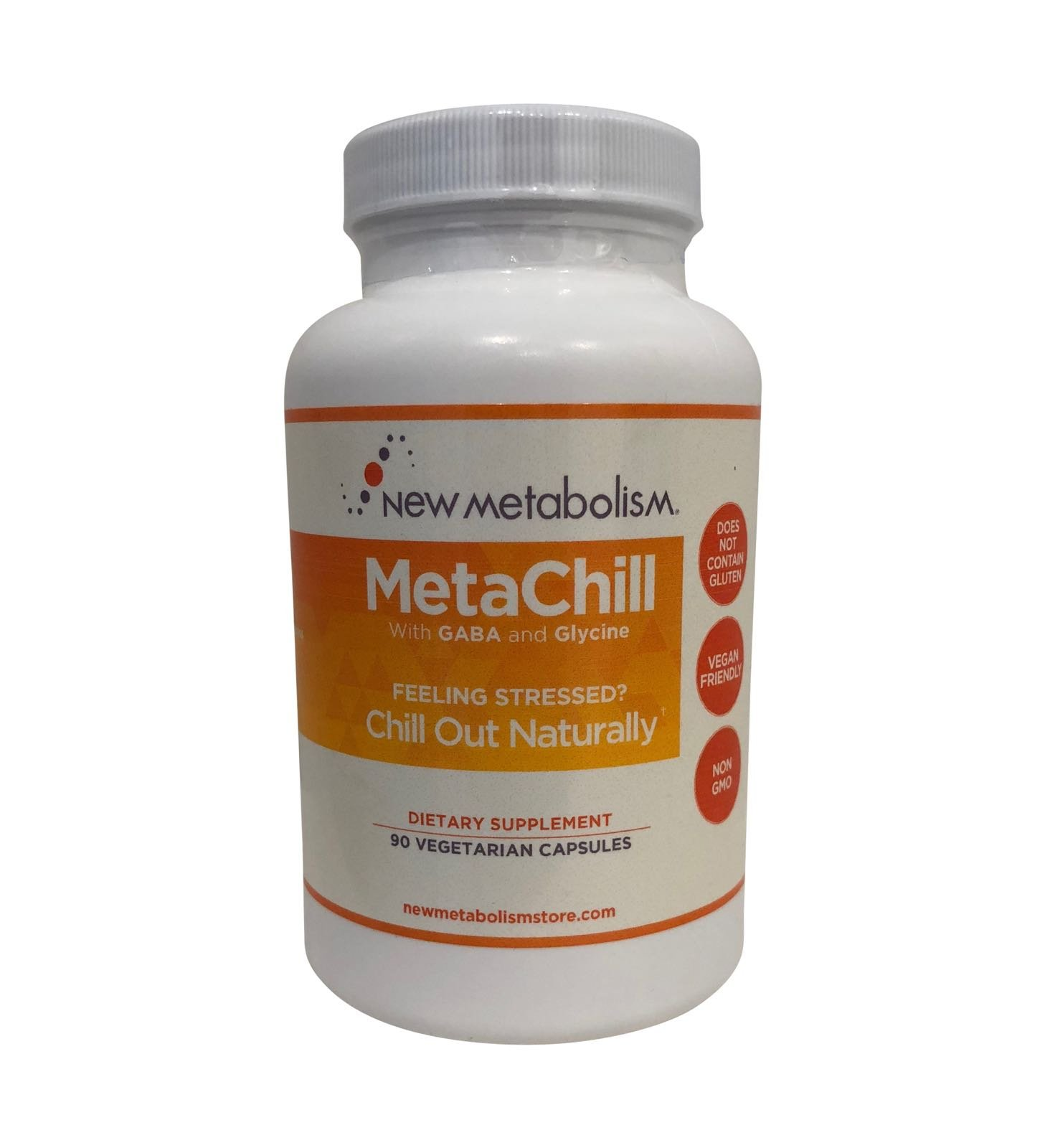MetaChill by Celebrity Nutritionist Derek Johnson   A Synergistic GABA Formula Being Called Nature's Xanax   Reduce Stress, Anxiety Relief, Mood Enhancer   Keep Calm And Take A Chill Pill