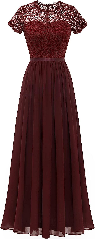 Year-end gift Dressystar Virginia Beach Mall Women Long Floral Lace Brid Short Dress Sleeve Formal