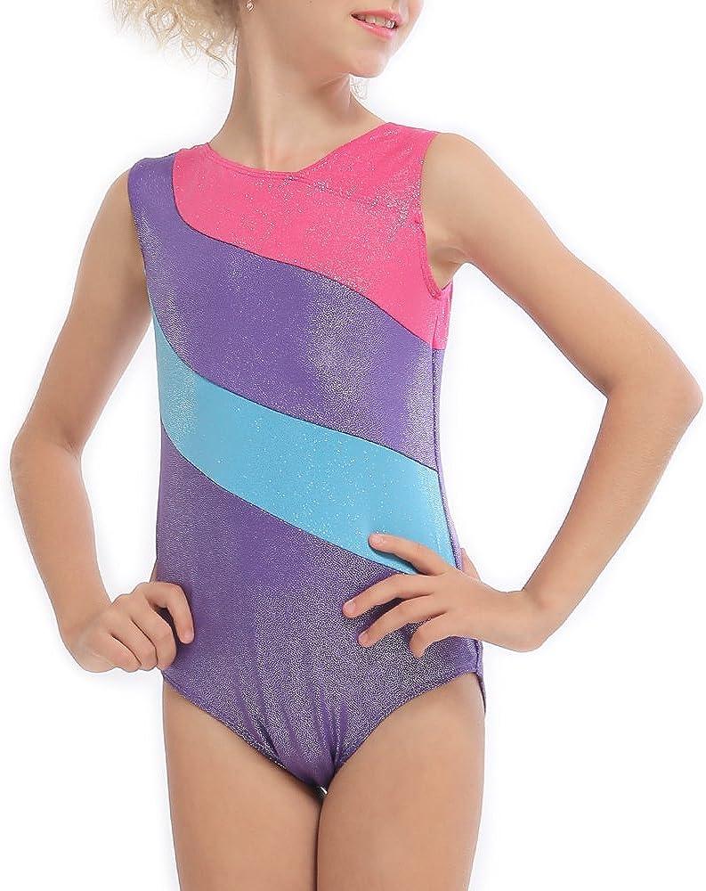 DAXIANG Gymnastics Leotard for Little Girl Rainbow Stripes Ballet Tutu 2-15 Years
