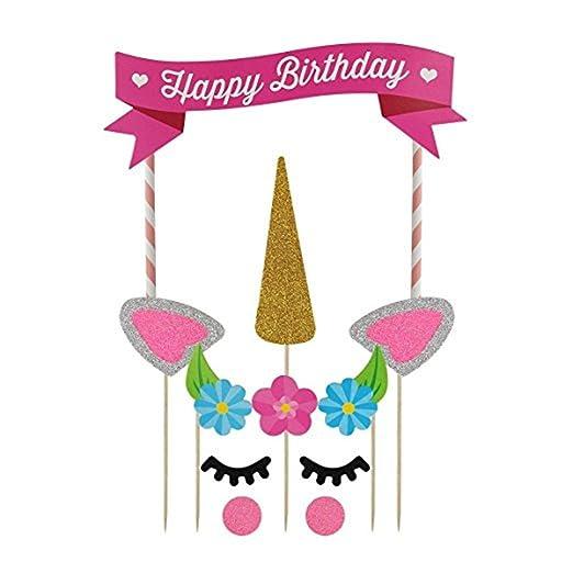 Decoración para tartas de unicornio DWE, decoración para ...