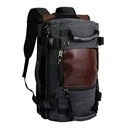 5d52b1c630 Amazon.com | OXA Duffel Bag Travel Canvas Backpack for Men, 10