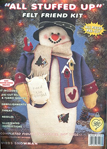 All Stuffed up Felt Friend Kit-Snowman & Birds