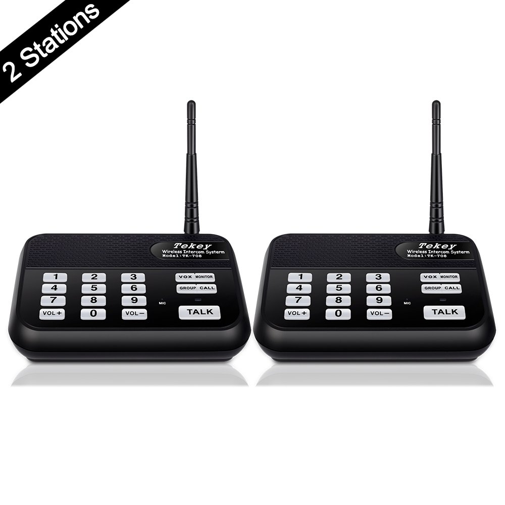 wireless intercom system new version tekeytbox 1800 feet long range 10 608065551330 ebay. Black Bedroom Furniture Sets. Home Design Ideas