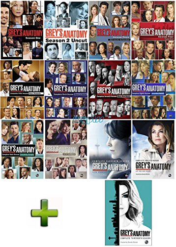 Grey's Anatomy: Complete Series 1-13 DVD Set Season 1 2 3 4 5 6 7 8 9 10 11 12 13 by