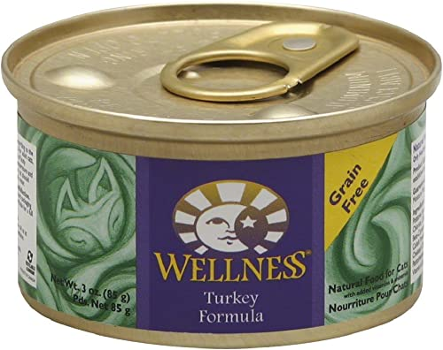 Wellness Turkey Formula Cat Food 6 cans-3oz Each
