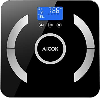 Aicok Digital Body Fat Bathroom Scale with Step-On Technology