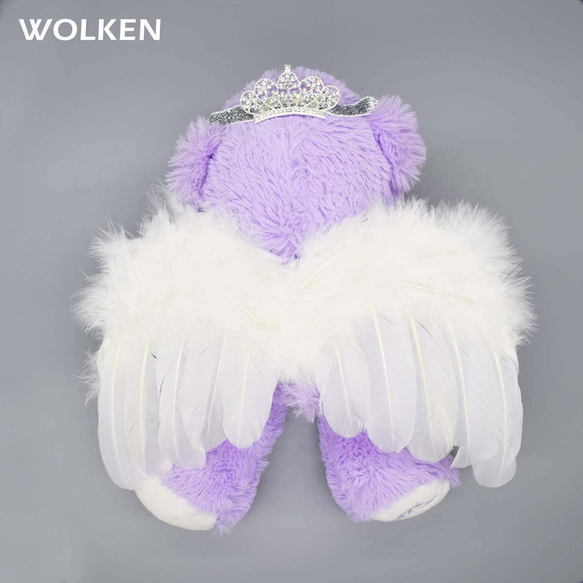 Newborn Baby Boys Girls Angel Feather Wing with Crown Headband Set Infant Photo Props Outfit Costume