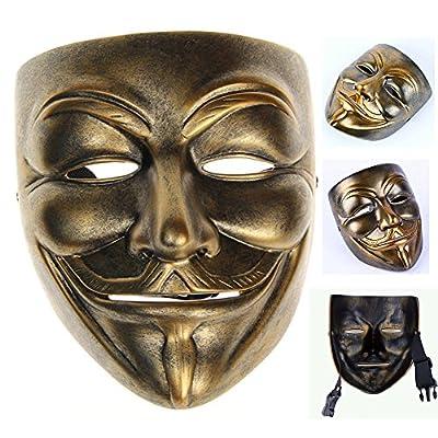 Gmasking Bronze Resin V for Vendetta Guy Fawkes Anonymous Mask+Gmask Keychain: Toys & Games