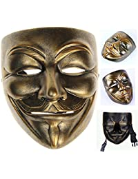 Bronze Resin V for Vendetta Guy Fawkes Anonymous Mask+Gmask Keychain