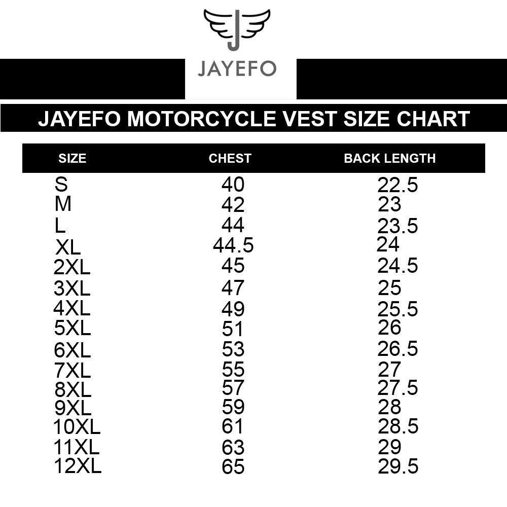 5XL, Black JAYEFO Leather Vest
