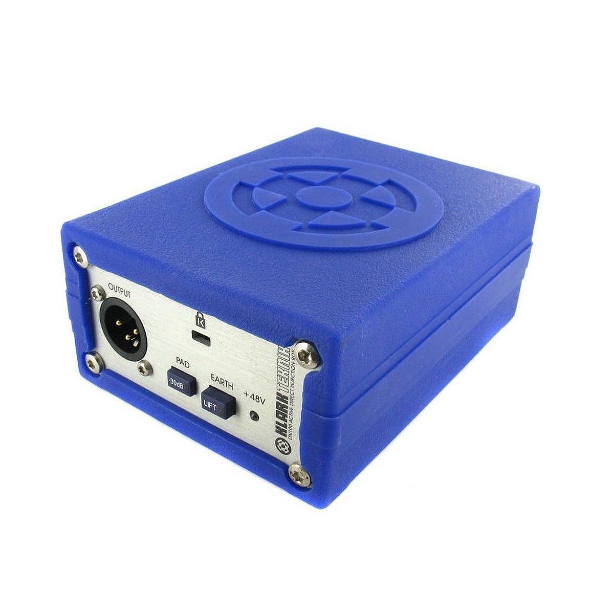 Klark Teknik DN100 | High-Performance Phantom Powered Single-Channel Active DI Box with Switchable -30 dB Input Pad and Earth Lift Switch (1-Unit)