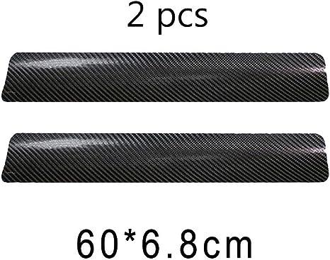 Auto Einstiegsleisten Aufkleber 4 Stück Karbonfaser Pedal Schwelle Carbon Faser Sill Scuff Schutz Kratzfeste Aufkleber Für Auto Door Sill Schwarz Auto