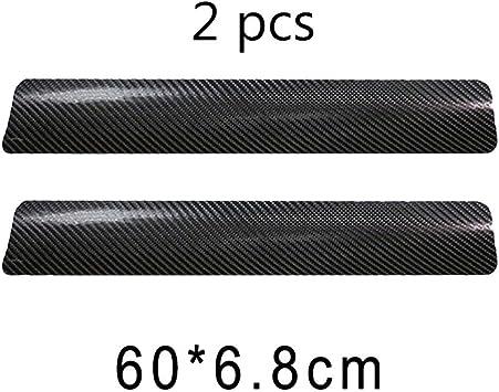Trittschutz schwarz Autot/ürschwellen-Abdeckung 4 x Karbonfaser-T/ürst/ürschwellen-Aufkleber kratzfest
