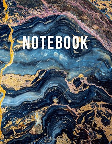 Notebook: Lined Composition Notebook (Gold Onyx Marble Stone) (Journal Book Diary) (8.5 x 11 Large)