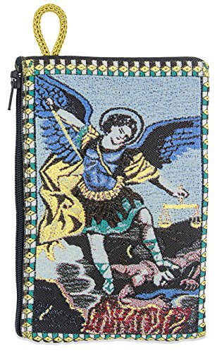 Venerare Embroidered Rosary Pouch by (Large, Saint Michael) by Venerare