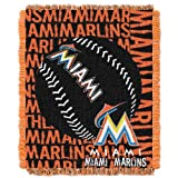 MLB Miami Marlins 48 x 60-Inch Double Play Jacquard Triple Woven Throw