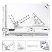GOCHANGE A3 Planche à Dessin, 50 x 36.5cm Drawing Board Table à Dessin avec Mouvement Parallèle, Angle Réglable