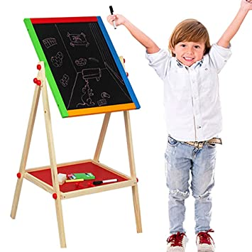 Jenify Easel niños Pizarra niño Arte Caballete para niños ...