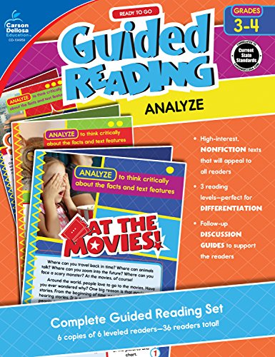 - Carson-Dellosa Ready to Go Guided Reading: Analyze Resource Book, Grades 3-4