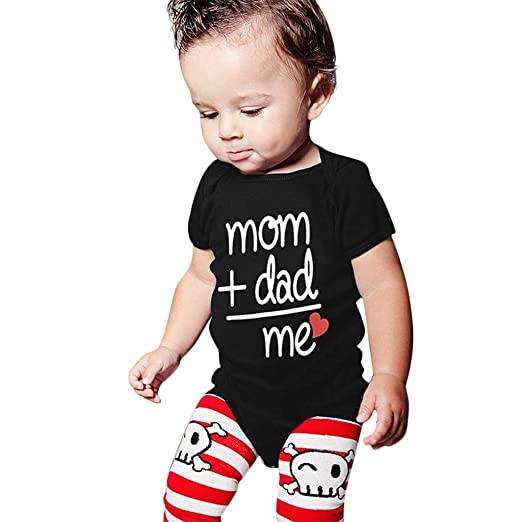 79b66cc6 Toddler Baby Mother's Day Clothes,Father's Day Boys Girls Outfits Letter  Printed Romper Bodysuit (