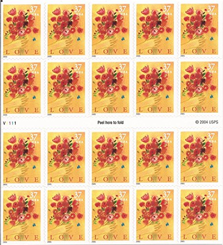Love Bouquet 20 x 37 Cent US Postage Stamps Scot (2005 Postage Stamps)